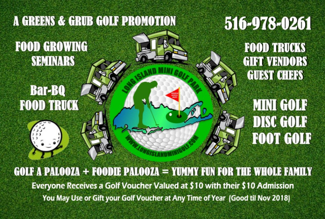 Long Island Mini Golf Park - Signage on cartoon football, cartoon pig roast, cartoon happy hour, cartoon bake sale, cartoon halloween, cartoon breakfast, cartoon bbq, cartoon board meeting, cartoon business meeting,